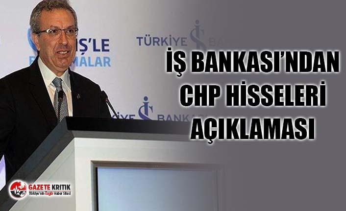 """İş Bankası Genel Müdürü Adnan Bali'den """"CHP hisseleri"""" açıklaması"""