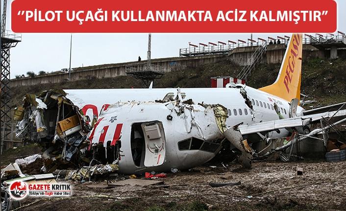 Kaza yapan Pegasus uçağı ile ilgili Bakan Turhan'dan...