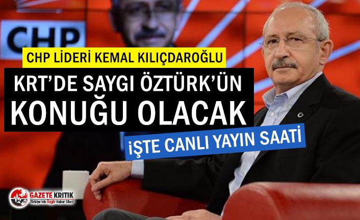 Kılıçdaroğlu KRT TV'de Saygı Öztürk'e...