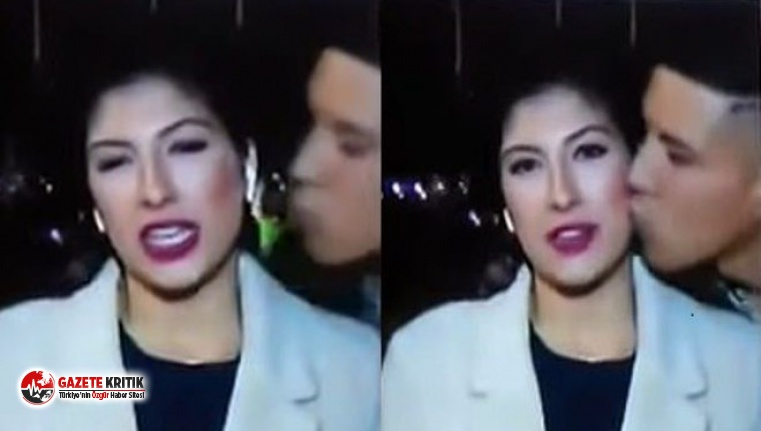 Muhabiri öptü, cinsel saldırıdan hüküm giydi