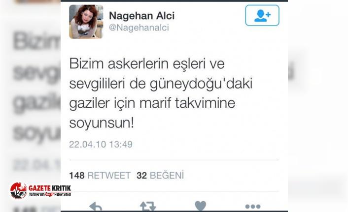 NAGEHAN ALÇI,  ASKER EŞLERİNE 'SOYUNSUNLAR' DEDİ, DAVA AÇILDI