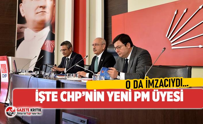 O İSİM CHP PARTİ MECLİSİ'NİN YENİ ÜYESİ...