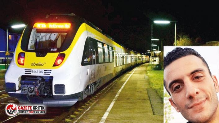 Samet Almanya'da trenin altında kaldı