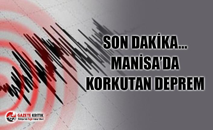 Son dakika: Manisa'da 4.8 büyüklüğünde deprem!