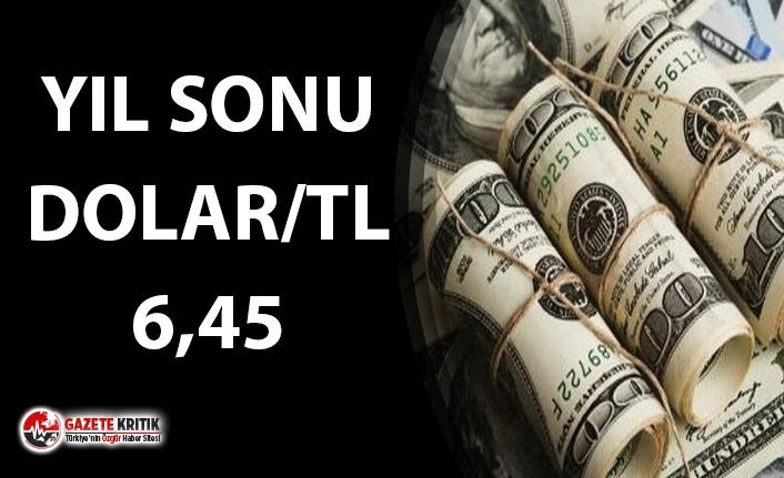 YIL SONU DOLAR BEKLENTİSİ: DOLAR/TL 6.45