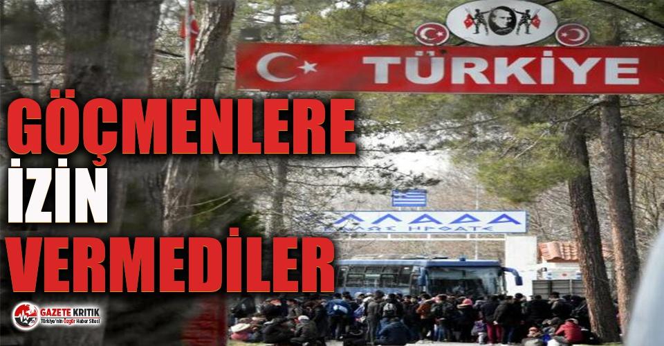 Yunanistan sınırı otobüsle kapattı!