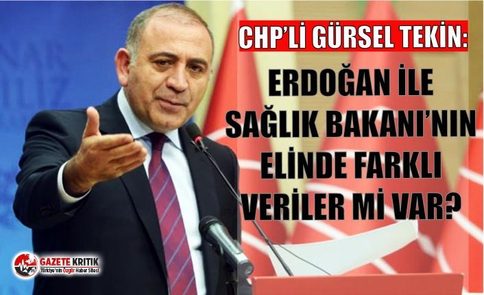 CHP'li Gürsel Tekin: Erdoğan ile Sağlık Bakanı'nın elinde farklı veriler mi var?