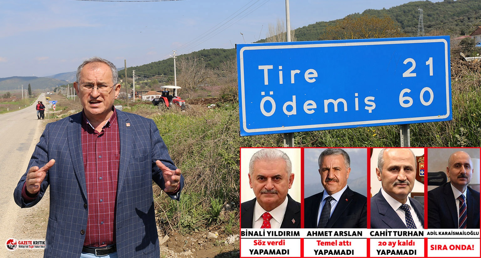 CHP'li Sertel: Üç Ulaştırma Bakanı bir Tire-Belevi...
