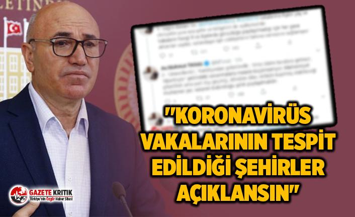 CHP'Lİ TANAL: ''KORONAVİRÜS VAKALARININ...