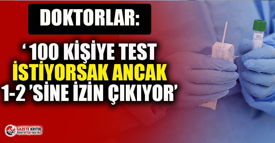 Doktorlar Türkiye'deki durumu anlattı: 100 kişiye...