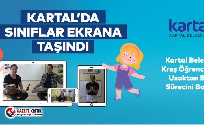 KARTAL'DA SINIFLAR EKRANA TAŞINDI
