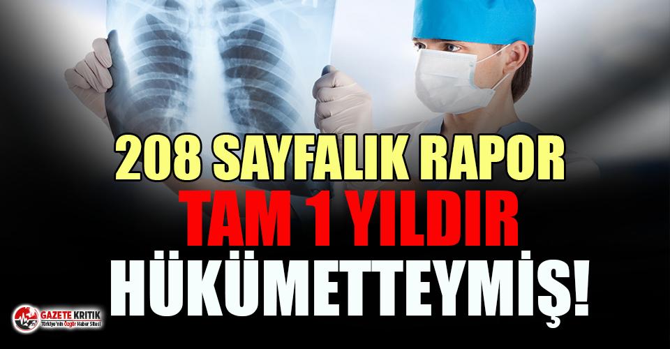 Şok iddia: 208 sayfalık pandemi raporu aylar önce hükümetin elindeydi!