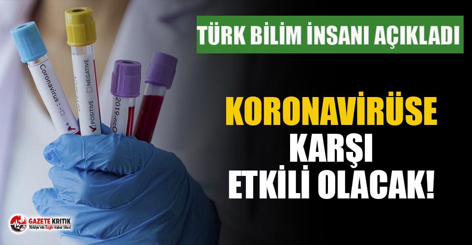 Türk bilim insanı açıkladı: Koronavirüse karşı etkili olacak!