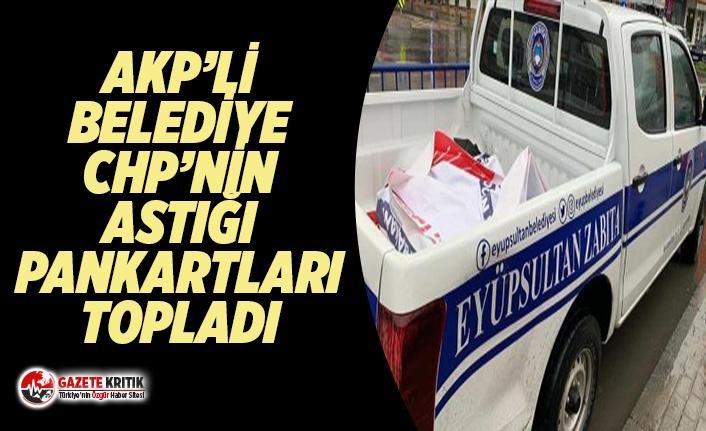 AKP'li belediye CHP'nin astığı 'koronavirüs'...