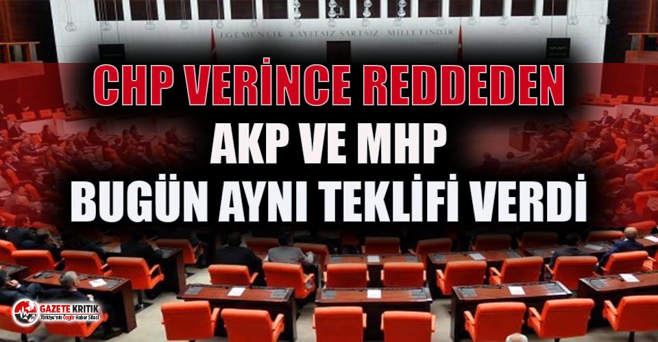 CHP'nin ''sağlıkta şiddet'' teklifini reddeden AKP ve MHP bugün aynı teklifi verdi!
