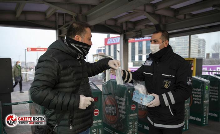 İBB koronavirüse karşı ücretsiz maske dağıtıyor