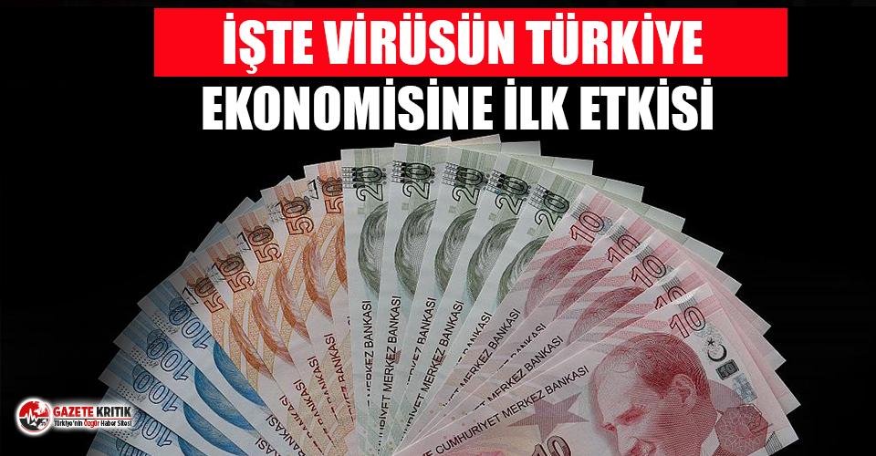 İşte koronavirüsün Türkiye'de ekonomi üzerindeki ilk etkisi