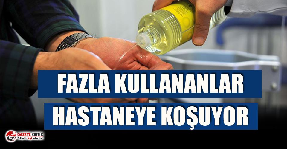 Kolonya ve çamaşır suyunu fazla kullananlar hastanelere...