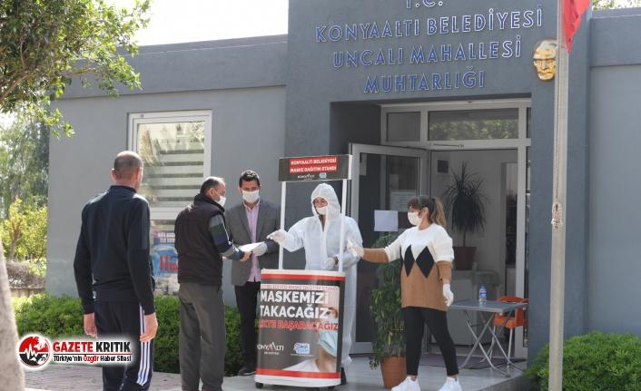 Konyaaltı'nda herkese ücretsiz maske
