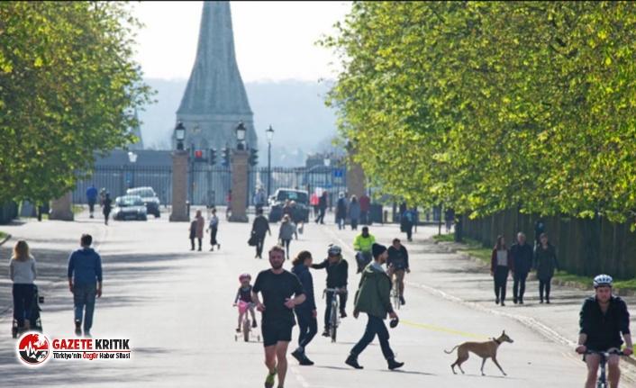 Londra'da güneş çıktı, 3 bin kişi sosyal mesafe kurallarını unuttu
