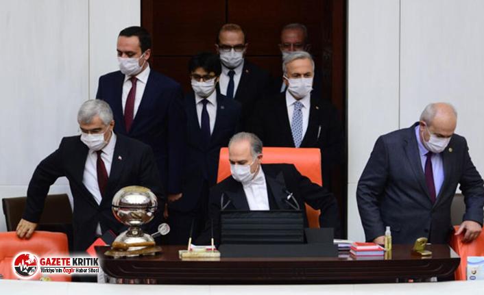 Mecliste 'maskeli oturum'
