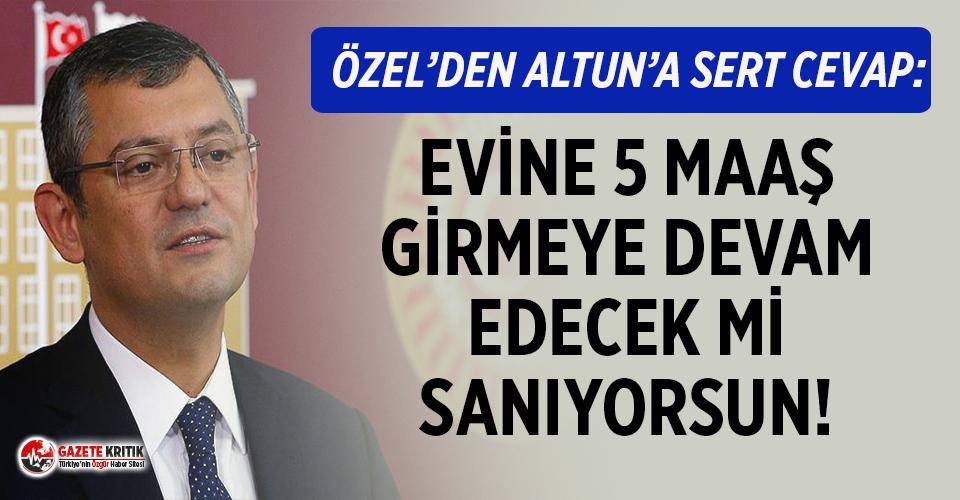 Özgür Özel'den Fahrettin Altun'a çok...