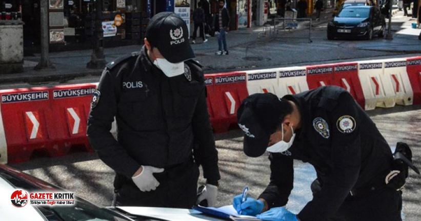 Sokakta halay çeken 8 kişiye 5 bin 894 lira ceza