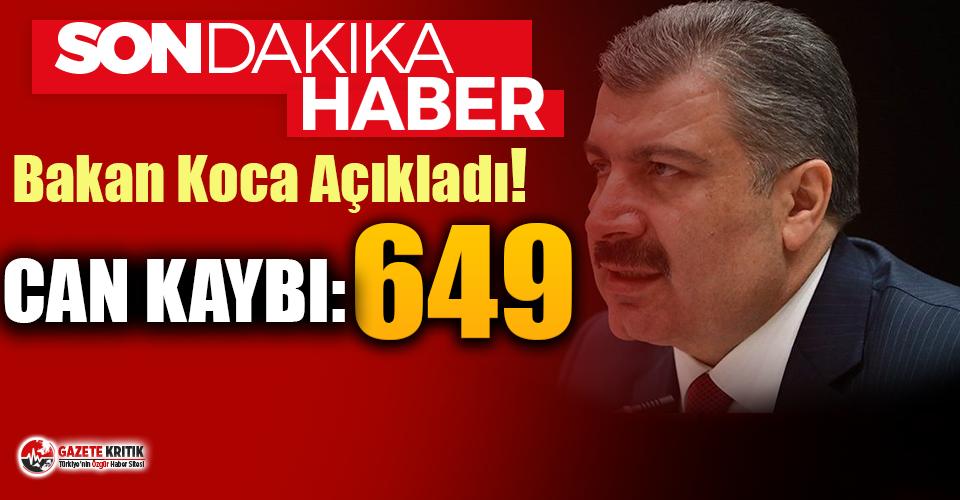 Son Dakika... Türkiye'de koronavirüsten 75...