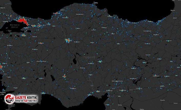 Türkiye'nin koronavirüs haritası!