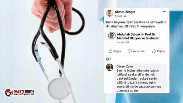 19 Mayıs için skandal ifadeler kullanan doktor özür...