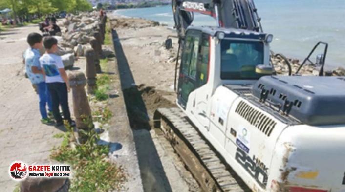 AKP'li belediye, 1.derece arkeolojik alan olan Yason Burnu'na iş makineleriyle girdi