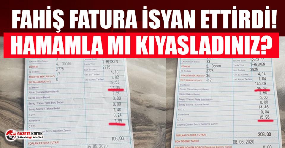 AKP'li belediyenin 'kıyas fatura'...