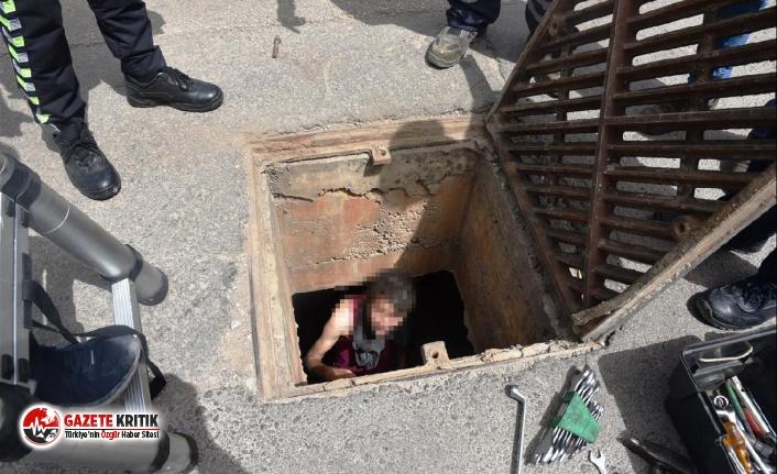 Antalya'da akılalmaz olay! Kanalizasyonda yakalandı…