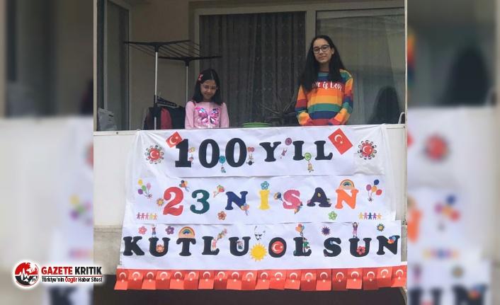 Bayraklılı çocuklar 100. yıla iz bıraktı