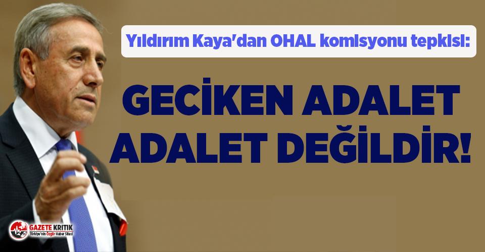 CHP'li Yıldırım Kaya'dan OHAL komisyonu...