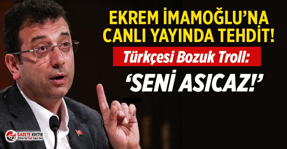 Ekrem İmamoğlu canlı yayındayken tehdit edildi!