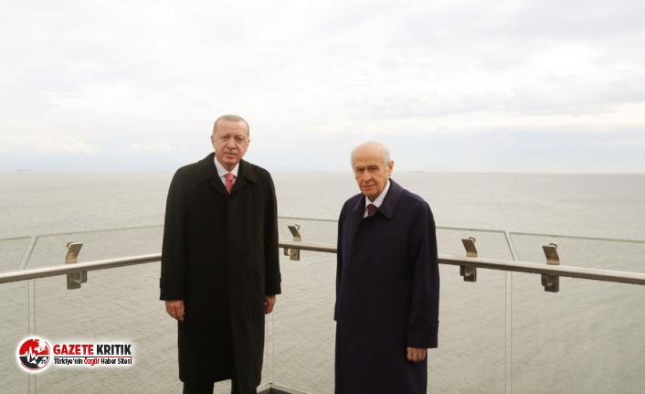Erdoğan ve Bahçeli Demokrasi ve Özgürlükler Adası'nı gezdi