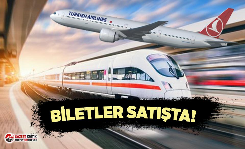 Hava ve demir yolu ulaşımında biletler satışa sunuldu!