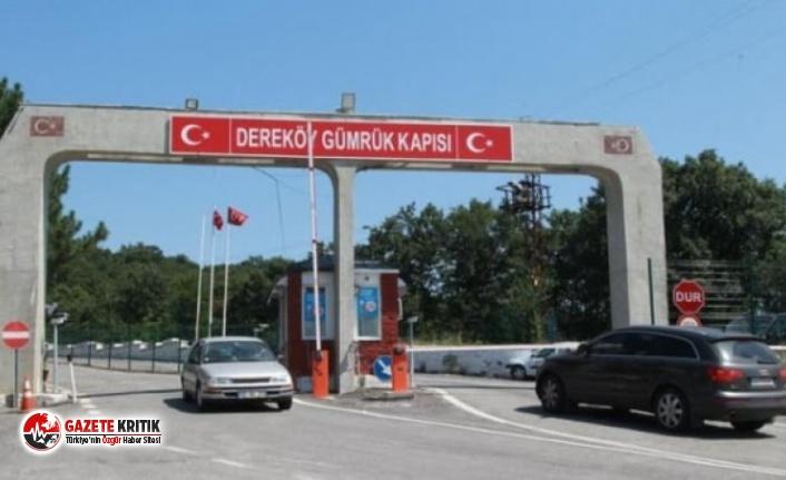 Kırklareli Dereköy Sınır Kapısı giriş ve çıkışlara...