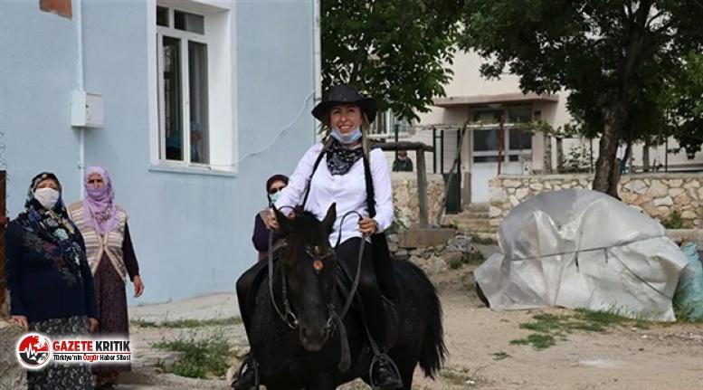 'Kovboy muhtarın' atını tüfekle vurarak...