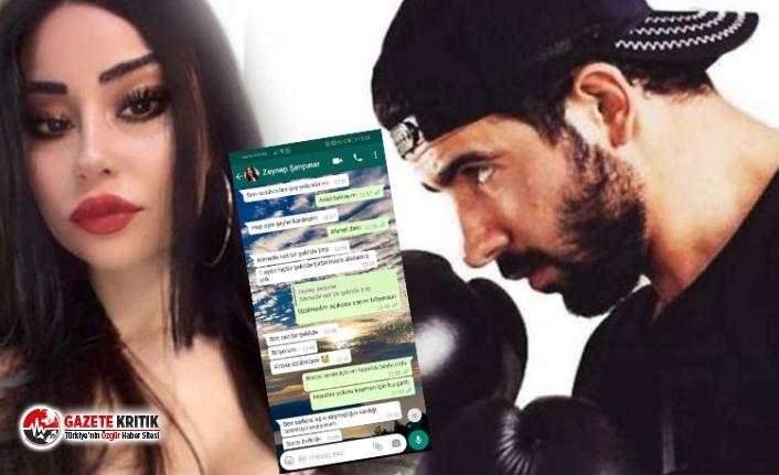 Milli boksör tarafından öldürülen Zeynep'in WhatsApp mesajları ortaya çıktı
