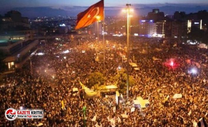 Sokağa çıkma yasağı olmasına rağmen Gezi Parkı...