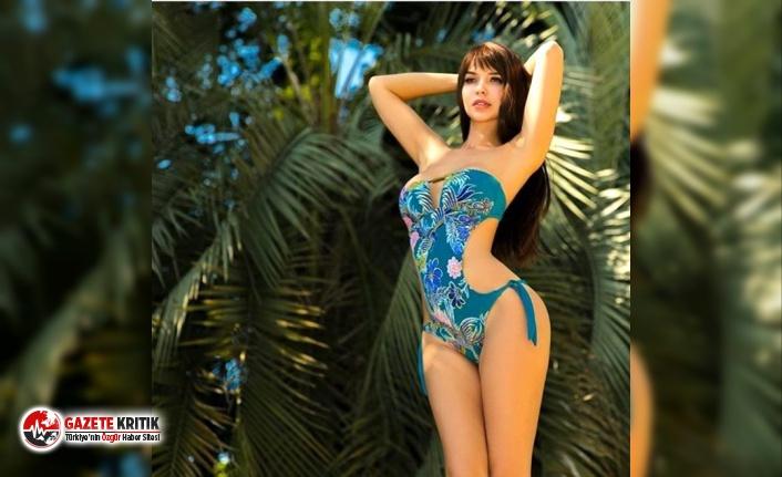 Süper model Maria Liman çırılçıplak pozunu sansürsüz paylaştı