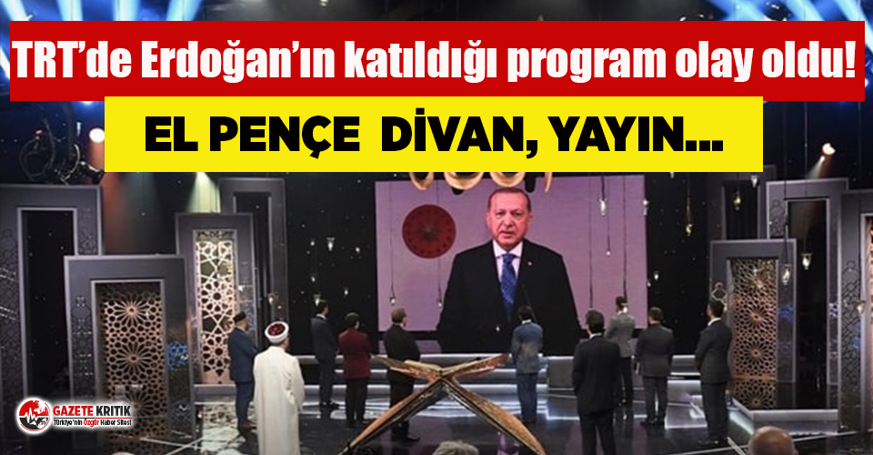 TRT'de Erdoğan'ın katıldığı program...