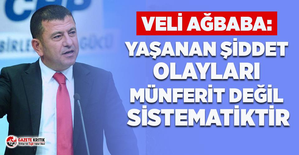 Veli Ağbaba: Yaşanan Şiddet Olayları Münferit Değil Sistematiktir!