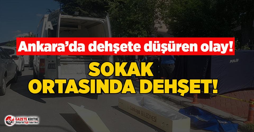 Ankara'da sokak ortasında dehşet! Moldovalı...