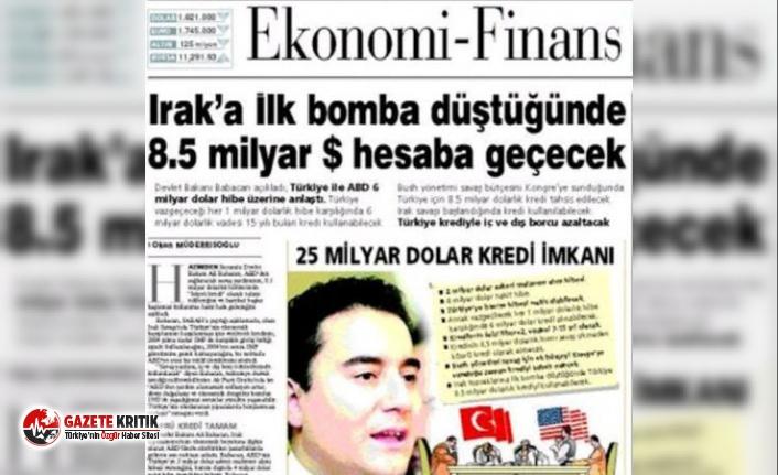 Babacan 'o manşet' hakkında yıllar sonra...