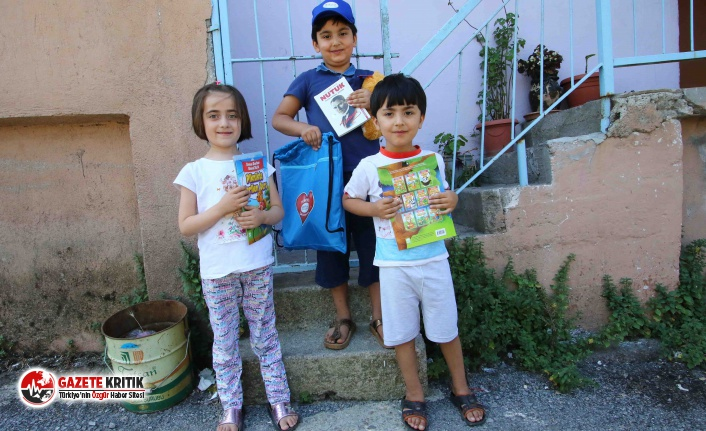 Bayraklılı çocuklara sürpriz hediye