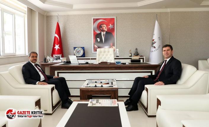 Burdur Valisi Hasan Şıldak, Başkan Ercengiz'e...
