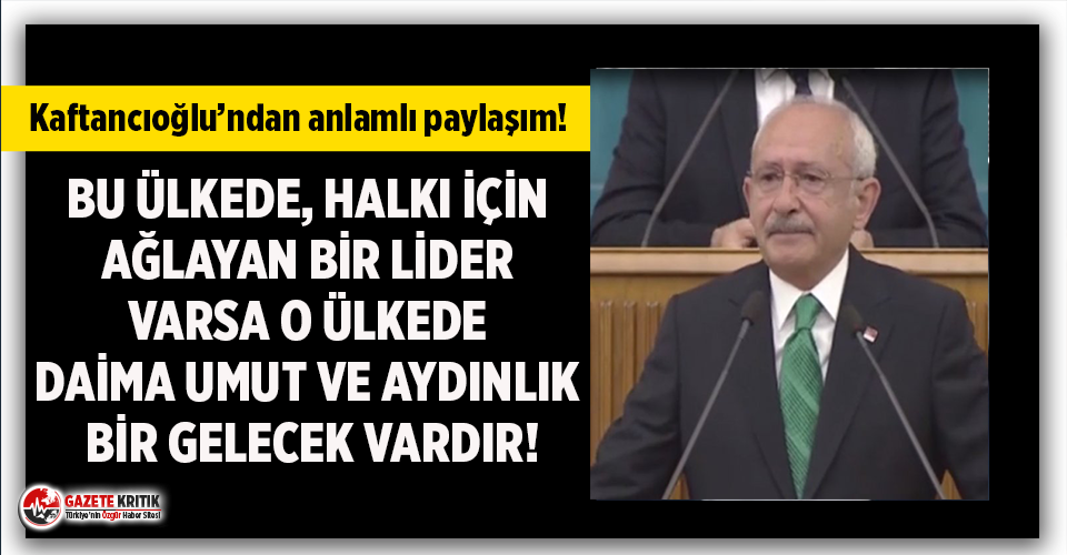 Canan Kaftancıoğlu: 'Bu ülkede halkı için...